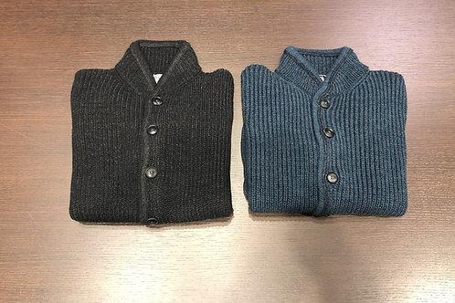 Maglia cardigan abbottonato lana