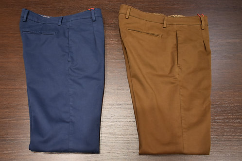Pantalone pinces spigatino cotone