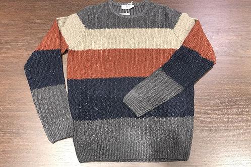 Maglia girocollo righe lana vanisè