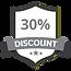 30% Discount Grey