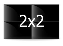 Video wall 2x2 Beeldschermen