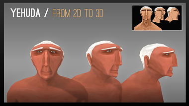 from 2D design to 3D model out of nowhere short film 2012 Bezalel