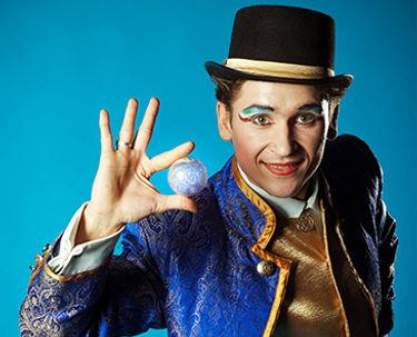 A trickster magician