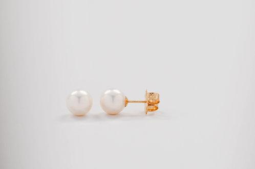 8mm Freshwater Pearl Stud Earrings