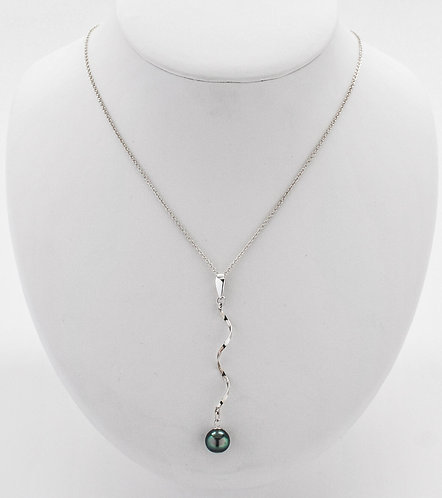Tahitian Pearl Pendant with Twist Design
