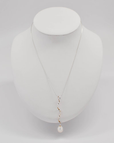 Baroque Freshwater Pearl Pendant with a Twist Design