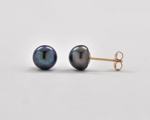 6.5mm Freshwater Button Pearl Stud Earrings