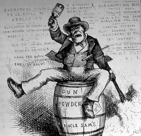 "Political Cartoon, 1882. ""The Irish."""