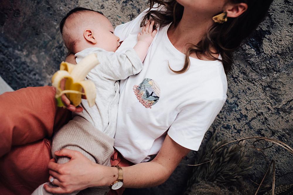 Tee-shirt d'allaitement Tajine Banane