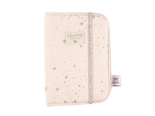 Protège-carnet de santé A5 gold stella dream pink