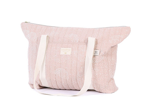 Sac de maternité Nobodinoz Paris white bubble misty pink