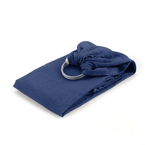 Sling de portage bébé en coton bio Bleu Frégate, Néobulle