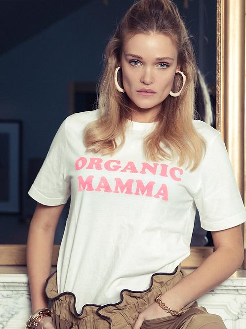 Tee-shirt ORGANIC MAMMA rose fluo