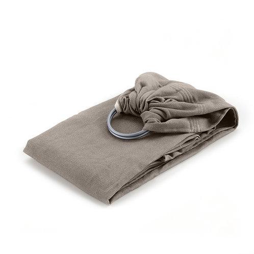 Sling de portage bébé en coton bio beige sable, Néobulle