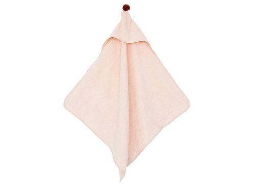 Cape de bain bébé Nobodinoz So Cute pink