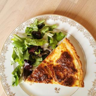 tarte salée mesclun rosechou