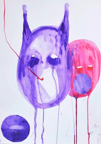Tête violette 4 (les siamois)