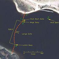 Port Security Barrier, PSB, floating barrier, boat barrier, anti-terrorism barrier, harbor barrier, harbor barrier, marine barrier, maritime barrier