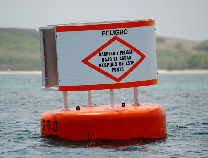 Mariner Warning Buoy at Vieques, PR