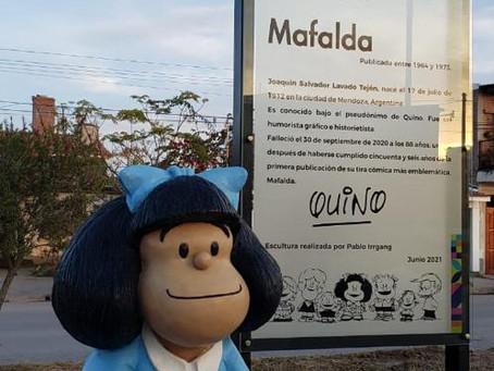 Inauguraron una escultura de Mafalda en Jujuy, Argentina.