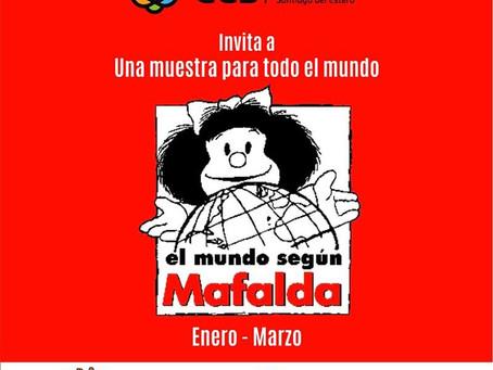 """La exposición """"El mundo según Mafalda"""" llega a Santiago del Estero, Argentina"""