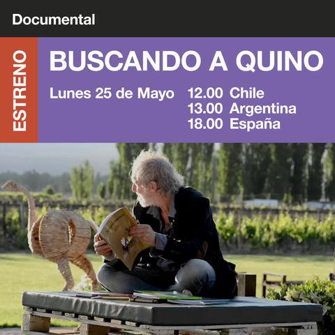 """""""Buscando a Quino""""un mini documental inédito sobre la vida y obra de Quino."""