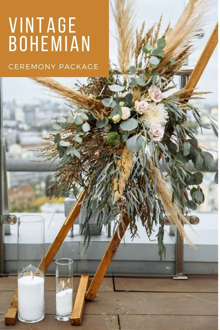 Vintage Bohemian Ceremony package