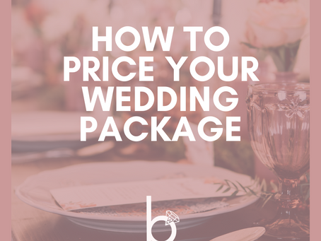 How to price a wedding package on Borrowed Wedding