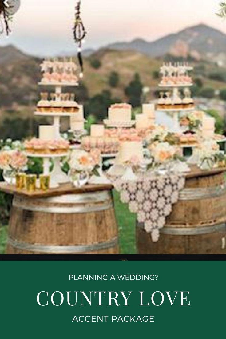 Country love wedding rental package