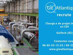 Offre d'emploi : Chargé.e de projet industriel (Golfech)