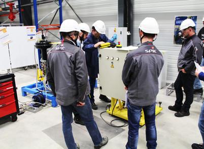 Les entreprises prestataires s'entraînent avant la période de maintenance des réacteurs