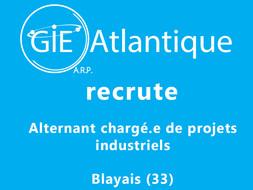 Offre d'emploi : Alternant chargé.e de projets industriels (Blayais)
