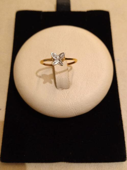 anel em Ouro 18k com Brilhante