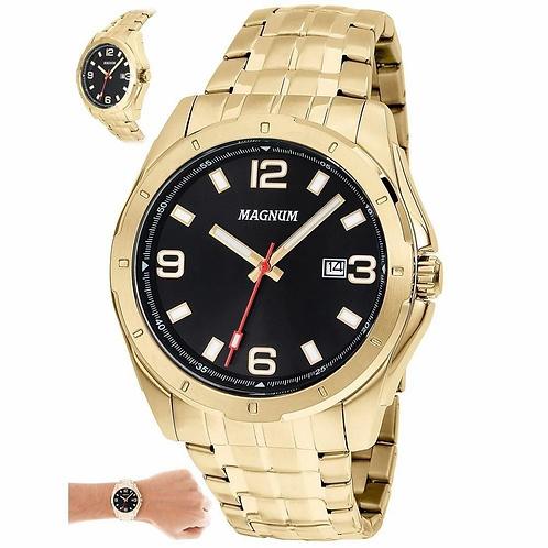 Relógio Magnum Masculino Ma32809u Casual Dourado