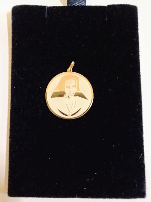 Pingente em Ouro 18k Medalha do Bem 06