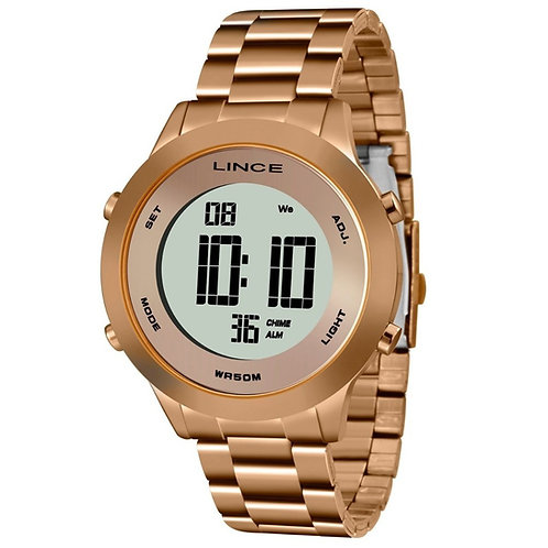 Relógio Feminino Digital Rose Lince