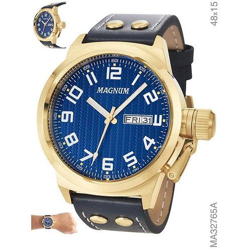 Relógio Magnum Masculino Dourado E Azul