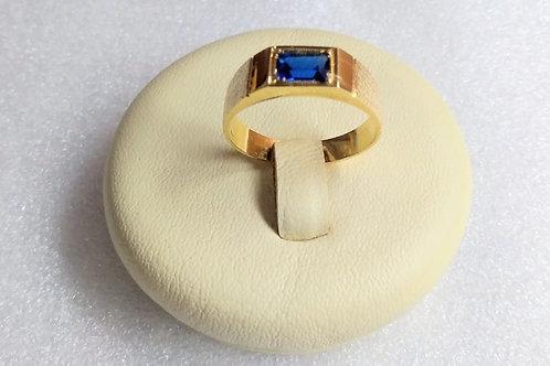 Anel em Ouro 18k com Zirconea Azul