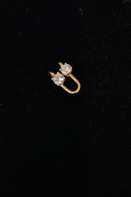Piercing em Ouro18k com Zirconea