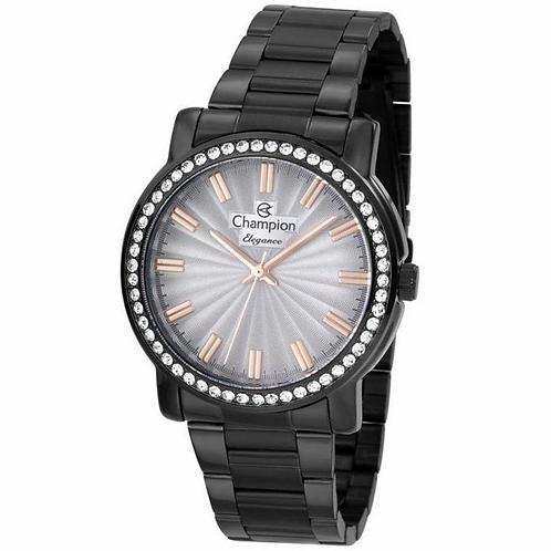 Relógio Champion Analógico Preto Feminino