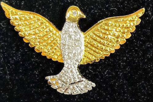 Pingente Ouro18k.c/Brilhantes