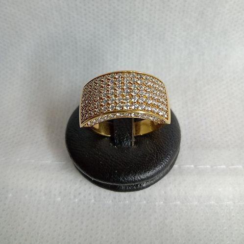 Anel Ouro 18k. c/Zirconia.