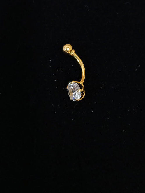 Piercing em Ouro 18k com Zirconea