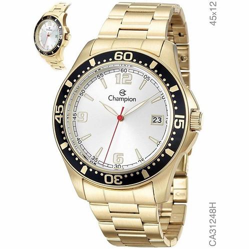 Relógio Champion Masculino Dourado Aço