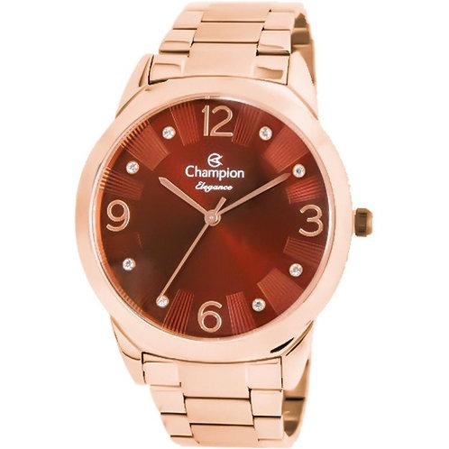 Relógio Champion Feminino Rose Visor Vinho