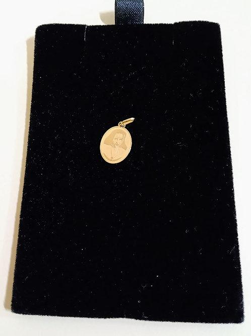 Pingente em Ouro 18k Medalha do Bem 05