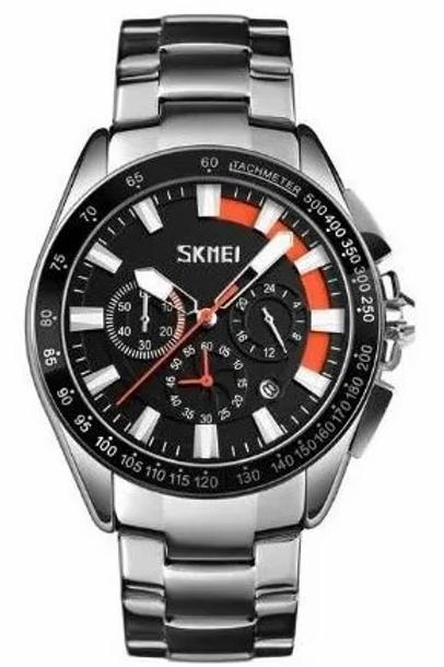 Relógio Masculino Analógico De Aço Inoxidável Skmei 9167