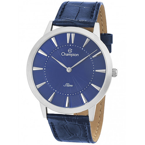 Relógio Champion Masculino de Couro Azul