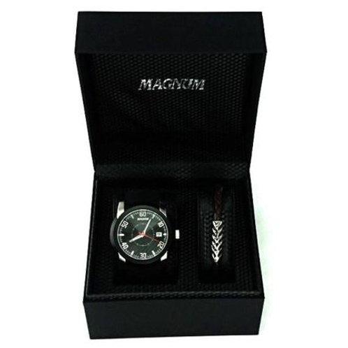 Relógio Magnum kit masculino com pulseira