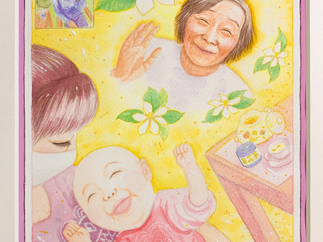 「心はつながってるよね、おばあちゃん。〜見守る笑顔〜」🌸